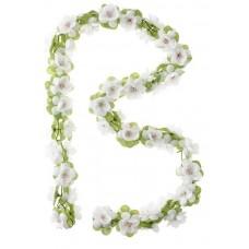 Blomsterranke hvid 170cm basil