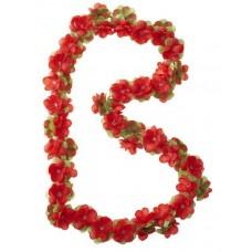 Blomsterranke rød 170cm basil