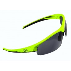 Brille Impress Neon gul stel BBB røg/klar/gul lins