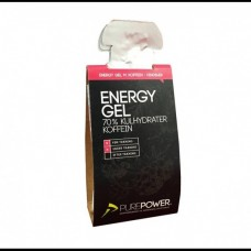Energy Gel Hindbær 18 x 40gr m.koffein Pure Power
