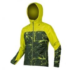Jakke Singletrack L Lime Green Endura vandtæt - L