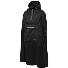 Regnjakke Qikpac Poncho Sort Trespass - Sort