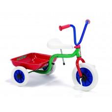Tricykel m. tiplad grøn/blå/rød Winther